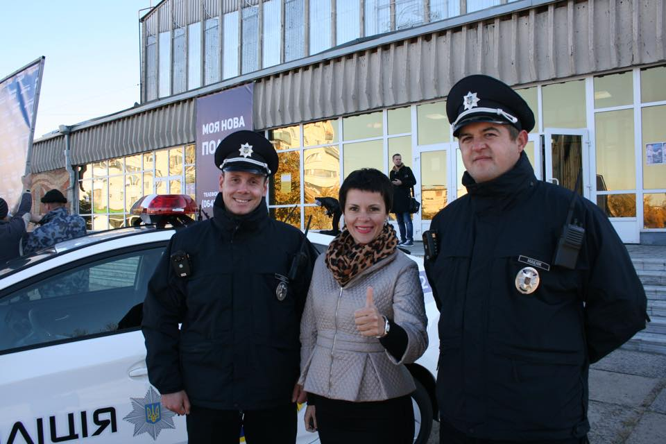 Olga Lishyk and new Patrol Police