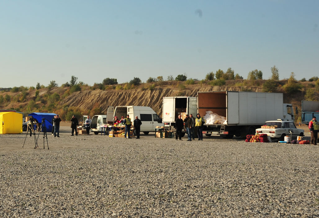 Humanitarian logistics center at Novotroitske