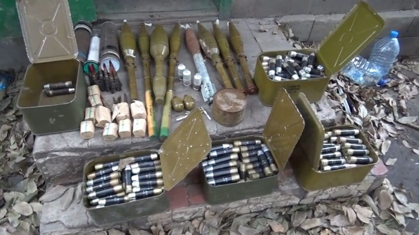 Cache with ammo found by Security Service of Ukraine in Mariinka