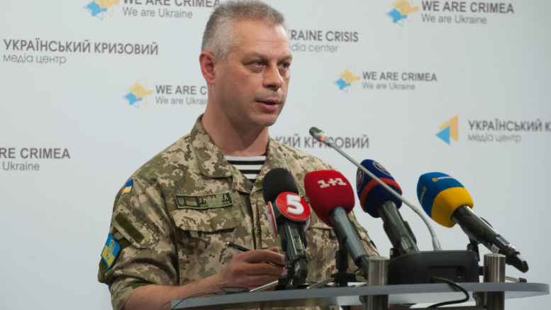 Ukraine's National Security and Defense Council spokesman Andriy Lysenko