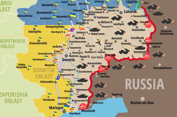 ATO map in Lugansk and Donetsk Regions