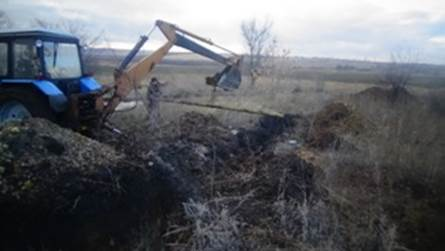Illegal oil pipeline from Russia to Ukraine
