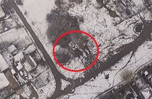Enemy tank located near the contact line in ATO zone