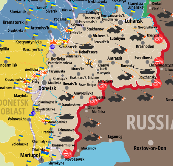Situation in ATO zone on January 21 2016