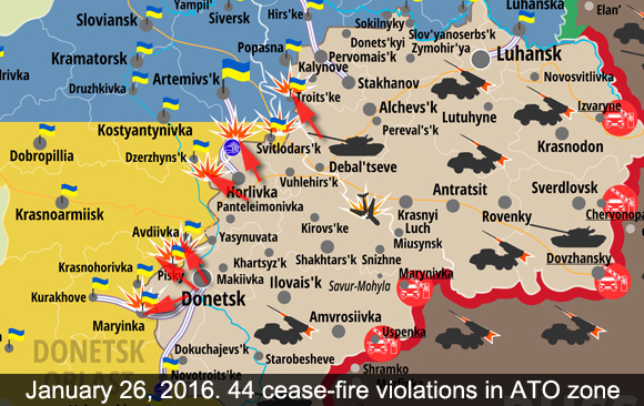 Attacks in ATO zone on Jan 26 2016