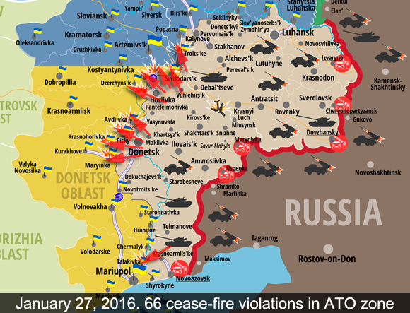 Attacks in ATO zone on Jan 27 2016
