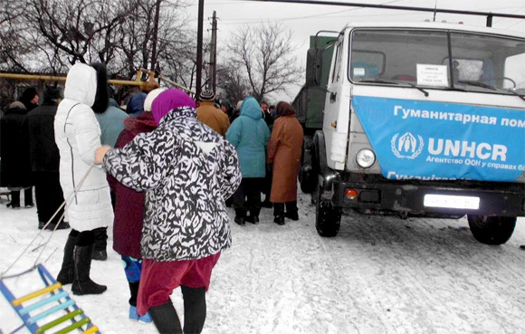 UNHCR delivered humanitarian aid to Mariinka