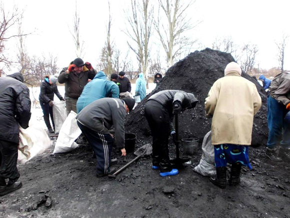 UNHCR delivered coal Mariinka