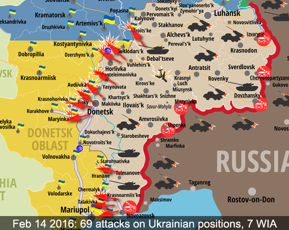Map of attacks in ATO zone in the last 24 hours
