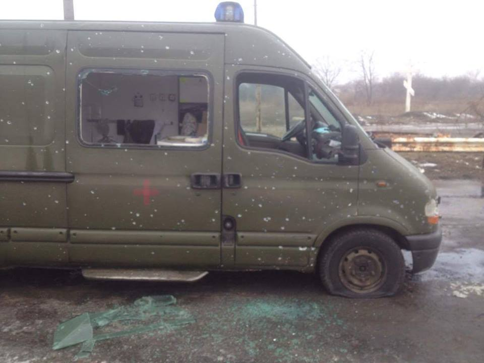 Ukrainian ambulance attacked by pro-Russian militants near Mayorsk