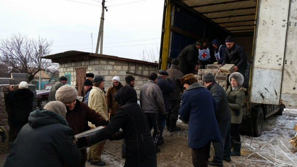 ICRC delivers humanitarian aid to people in the East of Ukraine