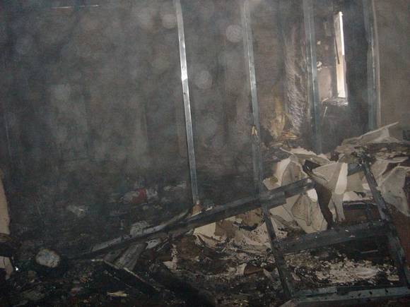 Odessa's office of Batkivschina political party burnt in Feb 2014 by pro-Russian terrorists