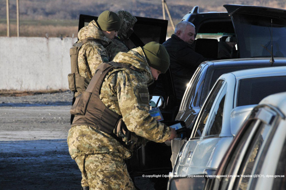 Ukrainian checkpoint in ATO zone in the East of Ukraine